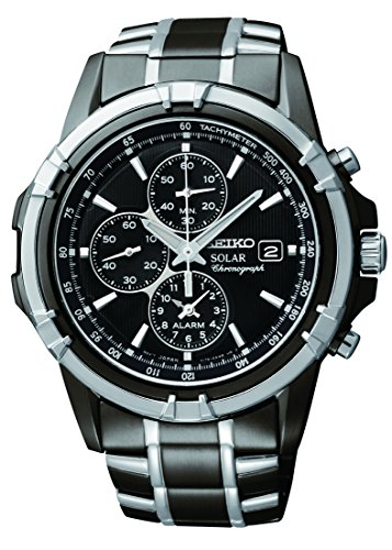 seiko mens ssc stainless steel solar watch with link bracelet