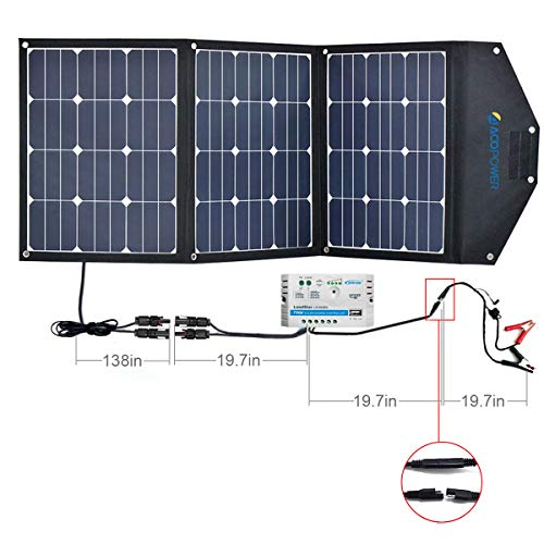 acopower hywv solar panel kit w a charge controller v w