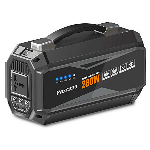 paxcess portable power station wmah portable generator with v ac