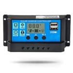 Temank 30A Solar Charge Controller 12V/24V Auto, Solar Panel Battery Controller 30Amp PWM Solar Regulator with Dual USB LCD fit for Small Solar System Review