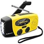 Esky Solar Weather Radios Hand Crank Self Powered Emergency Radio with LED Flashlight Review