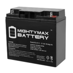 Mighty Max Battery ML18-12 – 12V 18AH CB19-12 SLA AGM Rechargeable Deep Cycle Replacement Battery Review