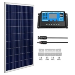 SUNGOLDPOWER 100 Watt 12V Polycrystalline Solar Panel Solar Module:1pcs 100W Polycrystalline Solar Panel Solar Cell Grade A +20A LCD PWM Charge Controller Solar+Solar Panel Connector Extension Cables Review