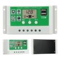 Temank 20A Solar Charge Controller 12V24V Auto, Solar Charge Regulator 20amp Support Lithium/Lead-Acid Batteries, with Adjustable Parameter LCD Display, Dual USB and Timer Setting Review
